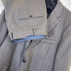 Hickey Freeman Milburn Ii 100 Wool Twill 2pc. Suit Taupe Menand039s Size 46r/40w