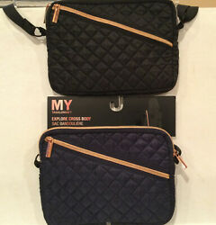 My Tagalongs Cross Body Navy amp; Black Bags Outer And Inner Pockets 1 Pre amp; 1 NWT $45.00