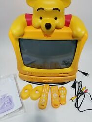 Disney Winnie The Pooh Tv Crt 13 And Dvd Player Yellow Combo Set 2005 Works
