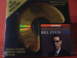 Dcc Gzs-1059 Bill Evans Trio Portrait In Jazz 24 Kt Gold Compact Disc/sealed