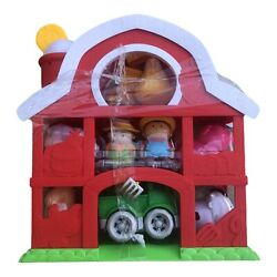 Kids Farm House Barn Toy Play Little Animals Set Toddler Baby Musical Gift New