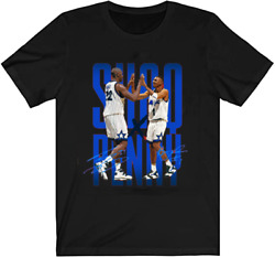 Penny Hardaway And Shaq Signatures T Shirt Red Size S-4xl Nm024