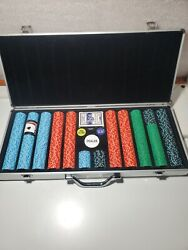 Vintage 680 Poker Chip Set 12.5 Grams. Coin Inlayed Chips. From A Gambling Boat.