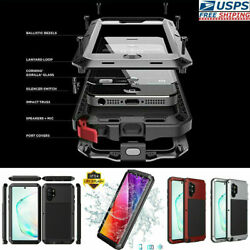 Aluminum Shockproof Metal Glass Screen Protector Case For Samsung Galaxy Note 9