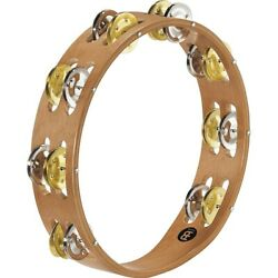 Recording-combo Wood Tambourine Two Rows Dual Alloy Jingles