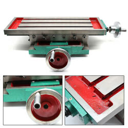 Milling Machine Compound Work Table Cross Slide Bench Drill Vise Fixture New Top