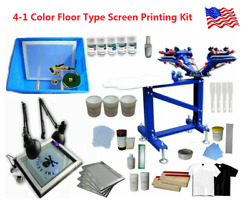 Floor Type 4 Color 1 Station Screen Printing Kit Especial For New Hand To Learn