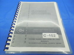 Clausing Colchester 17 Lathe Instruction Manual And Parts List C-102