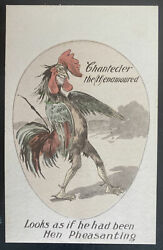 Mint Usa Picture Postcard Political Looks As If He Has Been Hen Pheasanting Crow