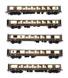 Golden Age Models Brass Brown And Cream Brighton Belle 5 Car Emu Dcc