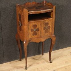Genoese Nightstand Furniture Inlaid Antique Style Four-leaf Clover 20th Century
