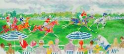 Leroy Neiman Polo Panorama Signed And Numbered Serigraph Horse Race