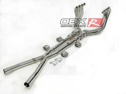 Stainless Long Tube Header Fits 2005-2013 Chevy Corvette C6 Z06 Zr By Obx