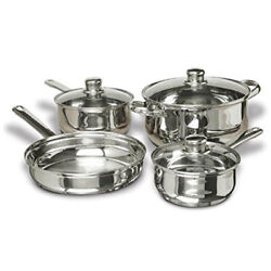 Concord 7-piece Stainless Steel Cookware Set Includes Pots And Pans