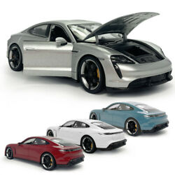 124 Scale 2019 Porsche Taycan Turbo S Model Car Diecast Collectible Vehicle