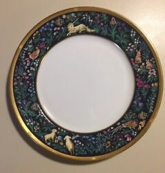 """Christian Dior Licorne Salad Plate 8 1/4"""" Discontinued Very Hard To Find"""