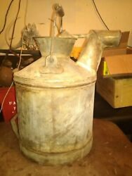 Vintage Standard Oil Can 5 Gallon 1930's Embossed Nice