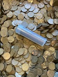 Roll Of 50 Lincoln Wheat Penny Mixed 1950s P-d-s Mixed Mint 50s Wheat Cents