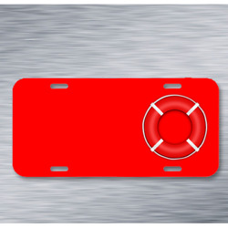Lifebelt Life Saver Safety Rescue On License Plate Car Front Add Names