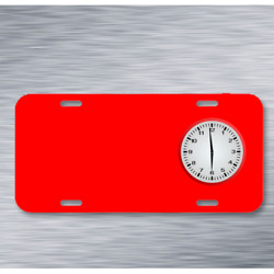 Afternoon Clock Es Clocks Novice On License Plate Car Front Add Names