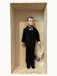 Abraham Lincoln Effanbee Doll 7902. 16 Doll In Original Box. Missing Top Hat.