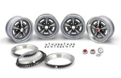 Oer 15 X 7 Rally Ii Wheel Kit Red Center Caps And Nuts 1967-1972 Pontiac Models