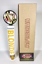 """Guinness Blonde Maryland State Flag Beer Tap Handle 12"""" Tall - Brand New In Box"""
