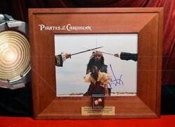 Johnny Depp Signed Pirates Of Caribbean Disney Prop Gold Nugget And Coin Coa Dvd
