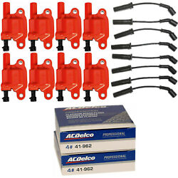 Acdelco Double Platinum Spark Plug And Racing Ignition Coil Wireset For Chevrolet