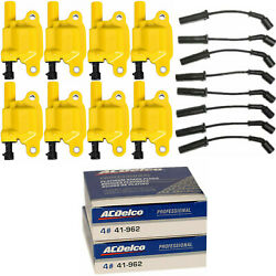 Acdelco Double Platinum Spark Plug And Energy Ignition Coil Wireset For Chevrolet