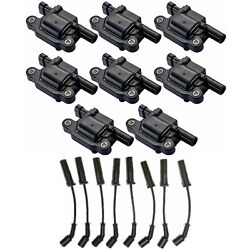 Wireset And Engine Ignition Coil Set For Chevrolet Express 3500 Cutaway V8 4.8l
