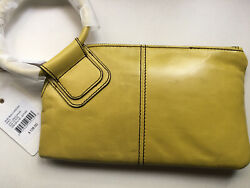 NWT Hobo International Sable Wristlet Clutch in Lemongrass Yellow $94.99