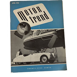 Motor Trend April 1950 Auto Racing Ford Vintage Engine
