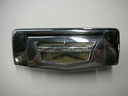 1957 1958 Ford Ranchero Tailgate Latch Release Handle W Emblem Original Delivery