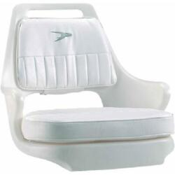 Wise Pilot Helm Chair With Cushion Set Fishing Boating Marine Accessories White