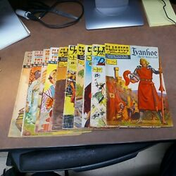 Classics Illustrated 10 Issue Silver Age Comics Lot Run Set Collection Ivanhoe