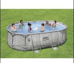 Coleman Power Steel 16andrsquo X 10andrsquo X 48andrdquo Pool Set In Hand. Ships Today