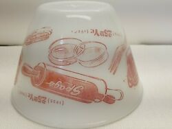 Fire King Oven Ware 17 Made In Usa Spag's 7 1/2 Bowl 25th Anniversary