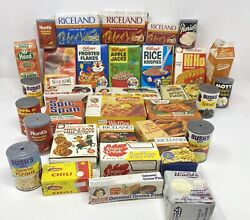 Lot 34 Vintage Brand Names Pretend Play Food And Grocery Boxes Cereal Eggs Milk