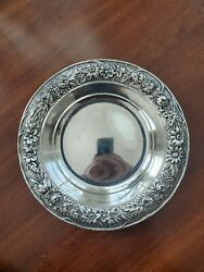 S.kirk And Son Sterling Silver Dish Bowl 409 Repousse Floral Border 156.8g 6 1/4