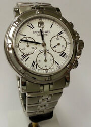 Raymond Weil Parsifal Watch 7231-st-00300 Analogue Chronograph Stainless Silver