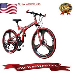 Mountain Bike Full Suspension Shimano Brake 21 Speed Bikes Mtb 26 Bicycle New