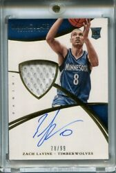 2014-15 Immaculate Zach Lavine Rc Rookie Patch Auto Rpa 'd 78/99 Bulls Wolves