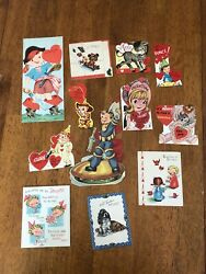 Vintage Lot Of 12 One Mechanical Valentine Cards Astronomer Pirate Animals Angel