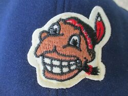 Vtg Cleveland Indians Chief Wahoo Ajd Made In Usa Very Old Snapback Hat Cap