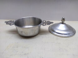 Woodbury Pewterers Pewter Replacement Sugar Bowl Candy Dish Server And Lid