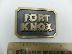 Vintage Fort Knox Gun Safes And Vaults Company Advertising Belt Buckle
