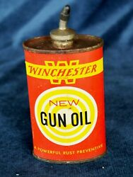 Winchester Gun Oil Can - Lead Spout - Vintage - Empty - Made In Usa 3oz Can