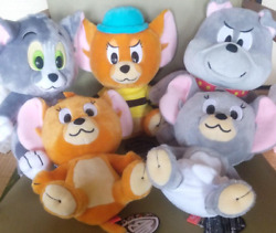 Tom And Jerry Plush Doll Set Of 5 Tom Jerry Spike Muscle Taffy 24cm