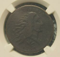 1793 Cent Flowing Hair Wreath Vine And Bars Fine